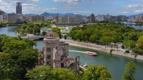 Hiroshima's Atomic Bomb Genbaku Dome became a UNESCO World Heritage Site in 1996. When the United States dropped the atomic bomb on August 6, 1945, it exploded just above the building.