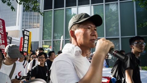 Despite heat exceeding 31 C (91 F), up to 3,000 attended the protest, according to organizers.