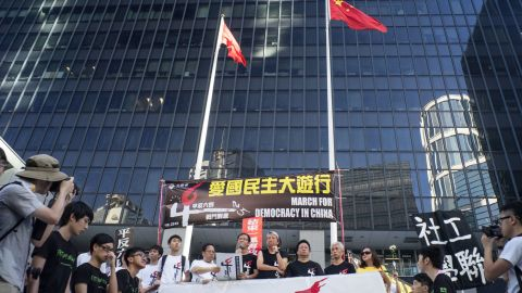 Hong Kong is currently the only place within Chinese territory where large pro-democracy demonstrations are tolerated.