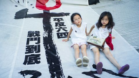 Many protesters said they hoped to keep the memory of Tiananmen Square alive for future generations.