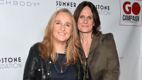 """Melissa Etheridge, left, and Linda Wallem married in May 2014 at San Ysidro Ranch in Montecito, California. The singer <a href=""""https://twitter.com/metheridge/status/473112831898820609"""" target=""""_blank"""" target=""""_blank"""">tweeted </a>""""True love...so blessed. 'By the power invested in me by the state of California...' Thanks"""" along with a wedding picture of her and Wallem, who is one of the creators of the Showtime series """"Nurse Jackie."""""""