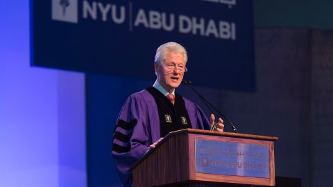 The former president of the United States delivered the address at New York University-Abu Dhabi's inaugural commencement exercises on May 25.