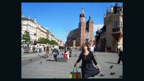 """<strong>5. Krakow's Market Square:</strong> Natalie Montanaro thinks <a href=""""http://ireport.cnn.com/docs/DOC-1135629"""">Market Square</a> is """"one of the best places to have a great day, rain or shine."""" Browse the stalls for """"all kinds of handmade goods and Polish jewels like amber,"""" and come hungry, said Montanaro."""