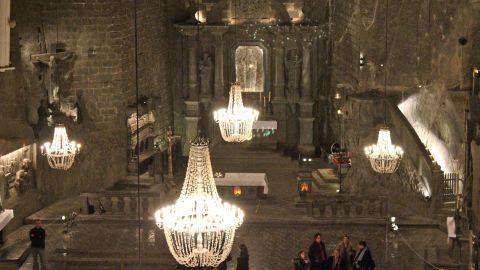 """<strong>6. Wieliczka Salt Mine:</strong> Ashley Hertz wasn't quite sure what to expect when she visited <a href=""""http://ireport.cnn.com/docs/DOC-1138704"""">Wieliczka Salt Mine</a>, but it ended up being one of the most amazing parts of her trip to Poland. The underground mine near Krakow features a lake, stables, statues and a cathedral carved entirely out of salt."""