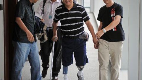 Tiananmen survivor Fang Zheng in Hong Kong in 2012.
