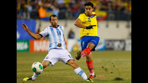 <strong>Christian Noboa (Ecuador):</strong> Noboa, right, plies his trade in Russia and is known for creativity, solid passing and vision. He's not a goal scorer, but Ecuador will rely on him to generate offense because, with little defense to speak of, it will need to outscore its opponents. If Antonio Valencia, Jefferson Montero and qualifying star Felipe Caicedo can get on the end of Noboa's passes, that's not at all far-fetched.