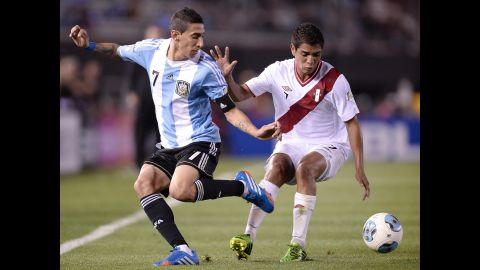 <strong>Angel Di Maria (Argentina):</strong> The perennially talented Argentines are a favorite to advance thanks to a strong defense and a set of strikers that would make any nation drool. The speed and pinpoint passing of Di Maria, left, should make the Real Madrid playmaker  the star of an aging midfield. And Argentina's strike force should benefit considerably from linking up with a man who posted 87 assists (coupled with 36 goals) in the last four years for his Spanish club.