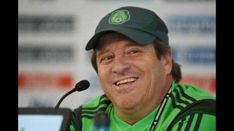 <strong>Miguel Herrera (Mexico):</strong> OK, fine, he's an ex-player. But forget Oribe Peralta, Giovani dos Santos and Chicharito. No position for El Tri has been more in dispute than manager. Since Javier Aguirre was sacked after the 2010 World Cup, five managers have helmed Mexico. Herrera's first squad thrashed New Zealand 9-3 in a two-game playoff to qualify for the World Cup. But given Mexico's group, don't expect his next games to go so swimmingly.