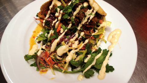Glasgow is the best city for vegans in the United Kingdom, according to PETA's picks in 2013. Mono City Bar serves its own beer and delicious bean burritos.
