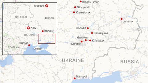 Where unrest has occurred in E. Ukraine