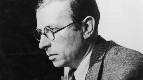 """Jean-Paul Sartre was already a teacher, writer and philosopher when he was drafted in 1939 to join French forces fighting in World War II. He was captured in 1940, spending about a year as a prisoner. Sartre didn't rest after his release. He was active in the French resistance and as a writer, including the 1943 publications of """"L'Etre et le Neant"""" (""""Being and Nothingness"""") and the play """"Les Mouches"""" (""""The Flies""""). He continued to gain international fame and recognition after the war ended, including earning the 1964 Nobel Prize in Literature for his autobiography, """"Les Mots"""" (""""The Words"""")."""