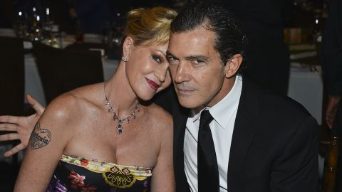 """Melanie Griffith and Antonio Banderas """"thoughtfully and consensually"""" brought an end to their 20-year marriage in June 2013. The two actors released a statement announcing their breakup after <a href=""""http://www.tmz.com/2014/06/06/melanie-griffith-antonio-banderas-divorce/"""" target=""""_blank"""" target=""""_blank"""">reports indicated Griffith had filed for a divorce.</a>"""