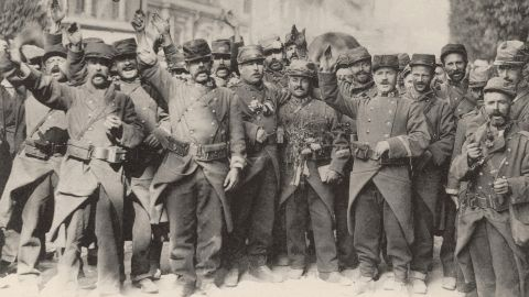 Although it seems like ancient history, World War I changed the world forever, and our lives are still shaped by the destruction and innovation that came with this period. With over 30 combatant nations, and 70 million men mobilized, World War One profoundly destabilized the international order. Seen here are French soldiers singing the national anthem at the beginning of the war (France). In August 1914. View photo gallery showing key events of World War I.