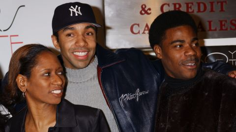 """Morgan's acting career branched out from television to include movie titles such as """"30 Years To Life.""""  Director Vanessa Middleton, left, appeared with  Allen Payne and Morgan at the premiere on March 27, 2002."""