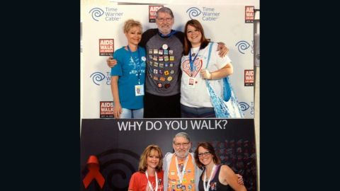 At the annual AIDS Walk Los Angeles in October 2013, Durham, right weighed 90 pounds less than she had at the previous year's event.