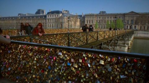 At one point, Paris's Pont des Arts bridge was covered in locks