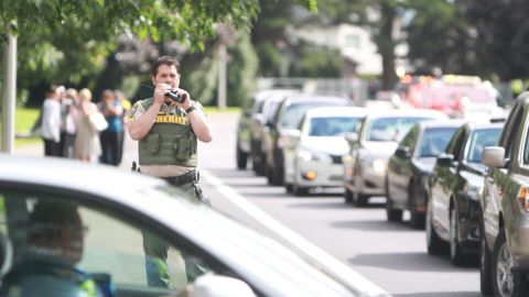 About an hour after the shooting, Oregon State Police said the area was secure and the situation was contained.
