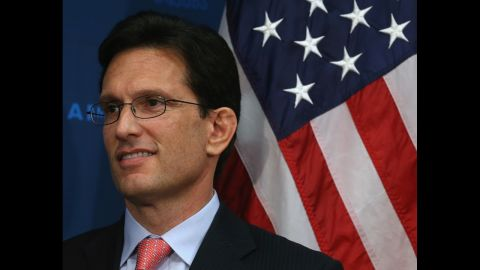 WASHINGTON, DC - JUNE 10:  House Majority Leader Eric Cantor (R-VA) participates in a news conference at the U.S. Capitol June 10, 2014 in Washington, DC. Speaker Boehner spoke to the media after attending a closed meeting with House Republicans.
