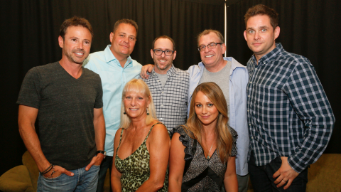 """The cast of the beloved Nickelodeon series """"Hey Dude"""" reunited at the ATX Television Festival in Austin, Texas on June 6, 2014, 25 years after the Western-themed sitcom premiered. See what (L-R) David Lascher, Geoffrey Coy, Debrah Kalman, Josh Tygiel, Christine Taylor, David Brisbin and Jonathan Galkin have been up to since then ..."""