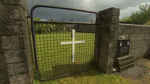 Human remains were found in the chambers of an underground structure next to a septic tank on the site of the former St. Mary's Mother and Baby Home.