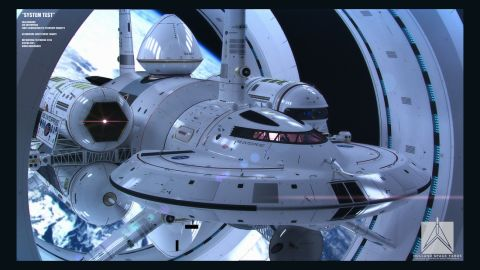 "NASA's warp-speed spacecraft, designed by physicist Harold White, is based loosely on drawings Matthew Jeffries' 1965 drawings of ""Star Trek's"" Enterprise."