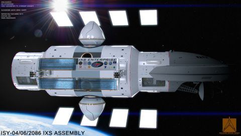 Artist Mark Rademaker created the visual representations of the warp-drive spacecraft based upon White's designs.