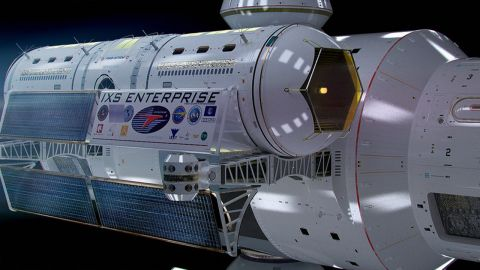 """White named the spacecraft IXS Enterprise, referencing the ship from the """"Star Trek"""" TV show. He says that parts of Jeffries' 1965 designs were mathematically correct."""