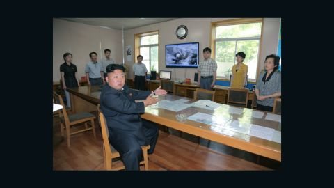 """The photos of """"Kim Jong Un Angry at Weather Forecasters"""" is being used under fair use guidelines. This means that you must write specifically to the clip, use only as much as is needed to make your editorial point, no use in promos, bumps or teases. Must font """"Rodong Sinmum"""". Please consult your assigned attorney if you have questions."""