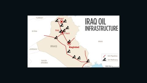 Map: Iraq oil infrastructure