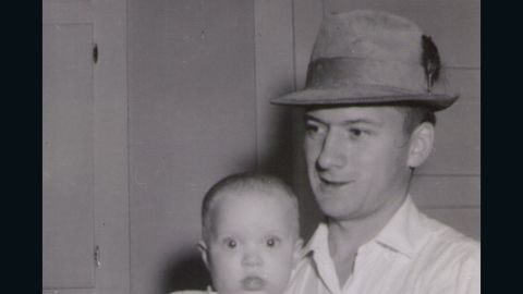 Wayne Bare, in 1962, with his daughter Laura.
