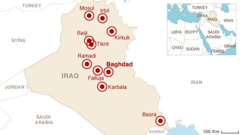 Map: Unrest in Iraq