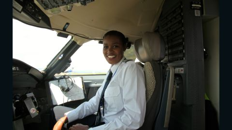 """Moving into the role of pilot has been a tough journey and it hasn't been any easier since she finished her training. Mbabazi reveals that being a female pilot still causes increased scrutiny. """"I think it's perception. Right now you meet a lot of people and some are very excited, and some are OK."""""""
