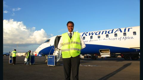 """A typical day sees the 26-year-old on duty for an often exhausting 12-hour shift but after achieving her lifelong ambition of being up in the clouds, Mbabazi wouldn't change a single thing. """"If you're in a field that you are really, you have passion for it. You can't wait for what tomorrow is going to bring for you, for me, that's my biggest achievement -- to be in a place whereby I'm happy."""""""