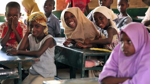 Students at the Friendship Primary School in 2012 in the Zinder region of Niger.