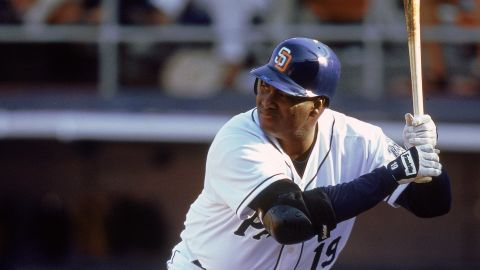 Caption:10 Apr 2000: Tony Gwynn #19 of the San Diego Padres at bat during the game against the Arizona Diamondbacks at Qualcomm Park in San Diego, California. The Diamondbacks defeated the Padres 8-4. Mandatory Credit: Tom Hauck /Allsport