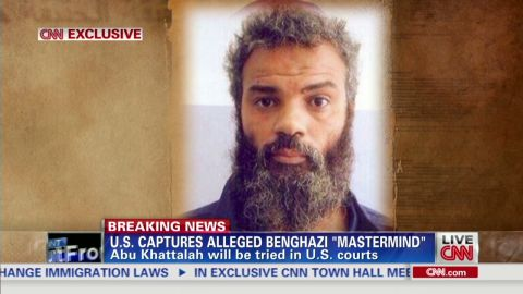Ahmed Abu Khatallah was arrested over the weekend.