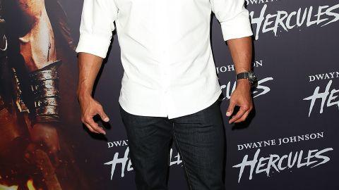 "Dwayne Johnson arrives at the screening of ""Hercules"" in June 2014 in Sydney, Australia."
