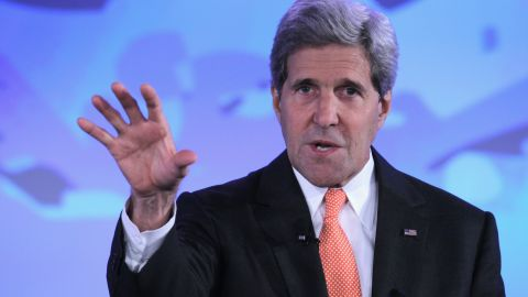 U.S. Secretary of State John Kerry speaks during the second and the final day of the 'Our Ocean' conference June 17, 2014 at the State Department in Washington, DC.