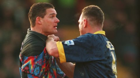 """Wimbledon's hard man Vinnie Jones terrorized opposition teams during his reign as leader of the """"Crazy Gang."""""""