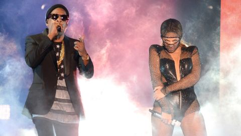 """After Jay Z's infamous scuffle with Beyonce's sister, the power couple faced numerous rumors that their relationship was on the rocks. But when they started their joint """"On the Run"""" summer tour in Miami on June 25, they held a united front, playing their never-before-seen wedding video and showing footage of daughter Blue."""