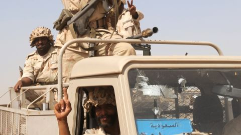"""Fle photo: Saudi troops are pictured near the country's border with Yemen in 2009. King Abdullah has ordered that """"all necessary measures"""" be taken to protect Saudi Arabia against terror threats, the state-run SPA news agency reported Thursday."""