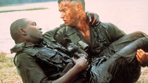 """Mykelti Williamson, left, stars as Gump's Army buddy Benjamin Buford """"Bubba"""" Blue, who has an affinity for shrimp."""