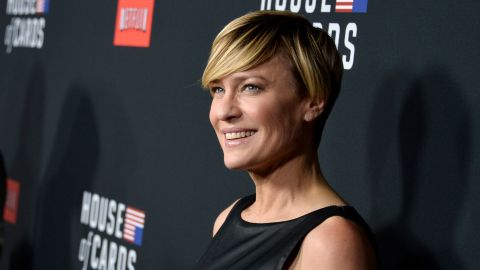 """These days Wright (she dropped the Penn after a divorce) is best known for her role as Claire Underwood in the critically acclaimed Netflix series """"House of Cards."""" She has also ventured behind the scenes and directed a season two episode of """"House of Cards."""""""