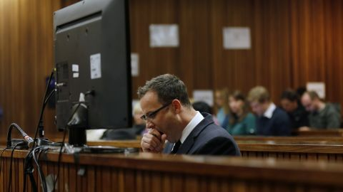 Pistorius yawns during day 37 of his murder trial on June 3.
