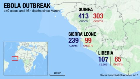 Map: Ebola spreads in West Africa
