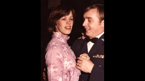 Four days later, police found the stabbed bodies of Kathryn Eastburn, left, and two of her daughters in the home. The mother had been raped, investigators said. Her husband Gary Eastburn, right, was an Air Force officer undergoing training in Alabama at the time of the killings, police said.