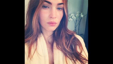 """Megan Fox is an Instagram newbie, but she already has a knack for taking selfies. <a href=""""http://instagram.com/the_native_tiger"""" target=""""_blank"""" target=""""_blank"""">The star shared her first Instagram self-portrait</a> -- and her second post to the site overall -- in July 2014, telling her fans that although the photo was captured in the early morning without makeup, she definitely used a filter."""