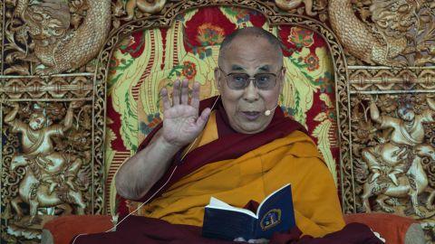 Tibetan spiritual leader the Dalai Lama teaches the Buddhist faithful near Leh, India, on his 79th birthday.