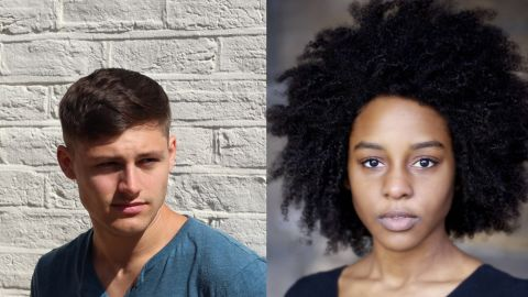 """Actors Pip Andersen, left, and Crystal Clarke were picked from an open casting call to join the movie. Andersen is skilled in the training discipline parkour, and """"The Force Awakens"""" will be one of Clarke's first feature films."""