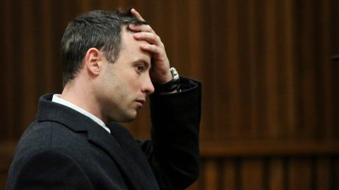 Pistorius sits in court in Pretoria on Tuesday, July 8.